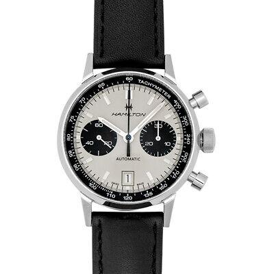 NEW Hamilton H38416711 American Classic Intra-Matic Auto Chrono White Dial Watch