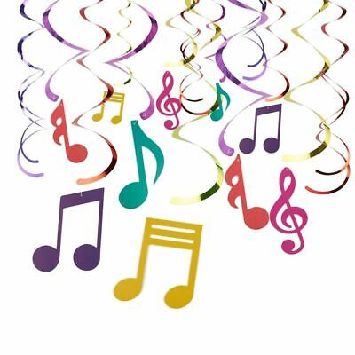 Music Note Decorations (30 Pieces Swirl Decorations,  Music Decor Party, Hanging Musical Note)