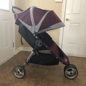 City Mini Baby Stroller In Deep Purple And Grey Colors