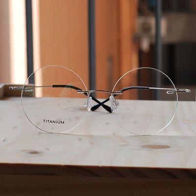 Titanium Round Steve Jobs Glasses mens silver women RX optical Eyeglasses Frame ](Steve Jobs Glasses)
