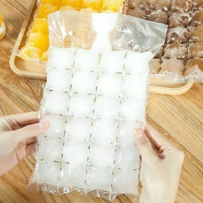10/30 Bags 28 Cubes Disposable Freezer Bag Fridge Ice Cube Bags Party Ice Maker