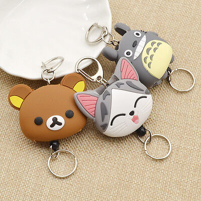 Keyfob Totoro Reel Key Ring Retractable Key Chain Japanese Anime Pull Gift