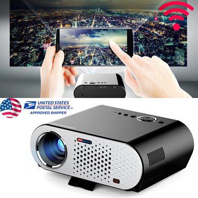 GP90 LCD Mini Projecteur Video 1080P HD Projector 3200 Luminous Home  Theater