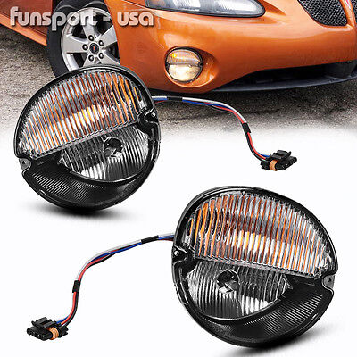 for 2004-2008 Pontiac Grand Prix Clear Front Bumper Fog Lights Lamps+Bulbs (2004 Pontiac Grand Prix Fog Light Bulb)