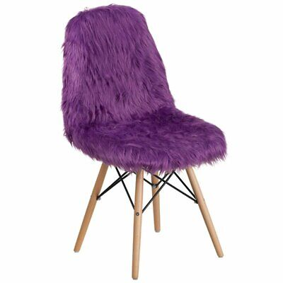 Bowery Hill Shaggy Dog Accent Chair In Purple ()