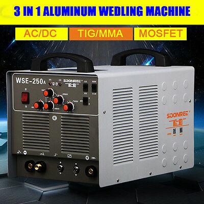 WSE250A Inverter AC/DC TIG/MMA Welding Machine Aluminum Welder 220V/50Hz for sale  Shipping to Canada
