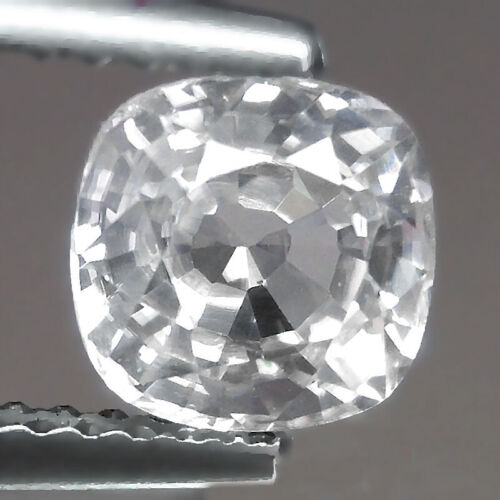 1.81cts Classic Cushion Colorless Natural White Zircon Loose Genuine Gemstones