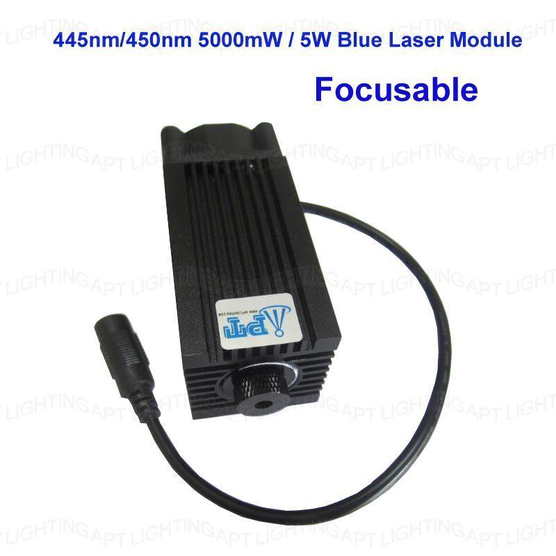 445nm 450nm 5000mW 5W Blue Laser Module for DIY CNC Cutter