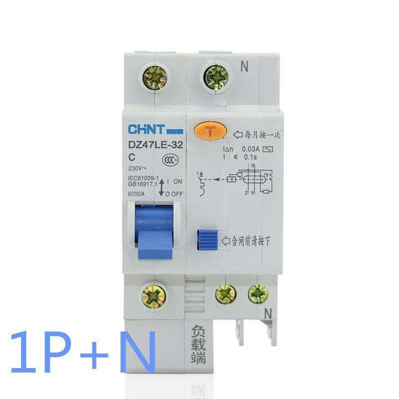 16Amp 30mA 1Pole RCD/RCCB  Residual Current  Circuit Breaker CHINT DZ47LE-32