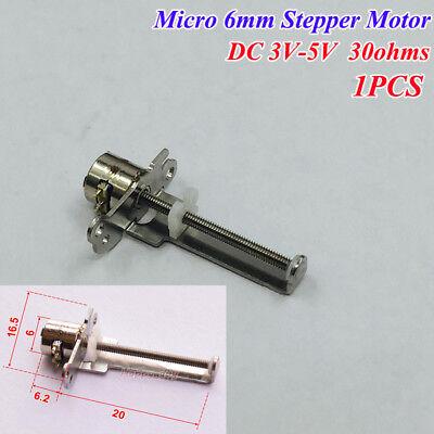 Dc 3v-5v Micro Mini 6mm Stepper Motor 20mm Long Linear Actuator Block Slider Nut