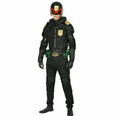 XCOSER Judge Dredd Costumes Cosplay Uniform Garment Halloween Costume Mens - Dredd Costume Halloween