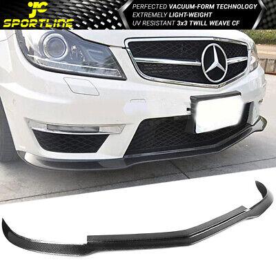 Fits 12-14 Benz C Class W204 C63 Sedan AMG Carbon Fiber Front Bumper Lip