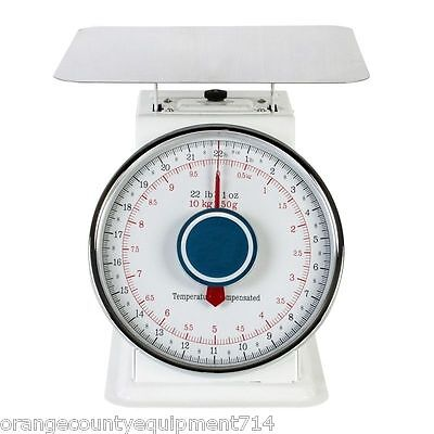 New 22 Lb Scale With Platform 2044 Produce Ingredient Food Bakery Manual Dial