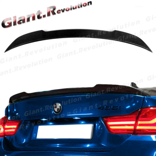 FITS 2014-2019 BMW F32 4-SERIES COUPE CARBON FIBER M TYPE TRUNK LID SPOILER SET