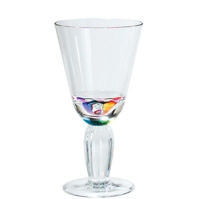 NEW MERRITT DIAMOND RAINBOW 12OZ ACRYLIC WINE GLASSES SET OF FOUR