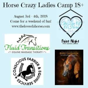 Overnight Horse Crazy Ladies Camp 18+ CLINICIANS BOOKED