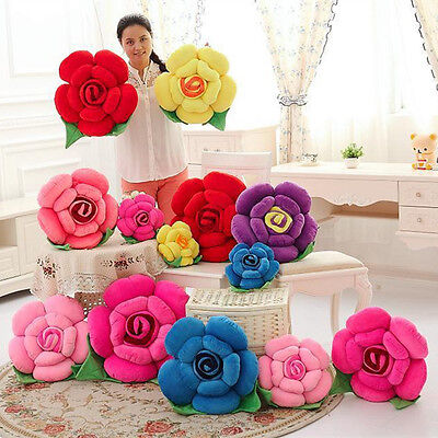 Rose Flower Pillows for Kids Girl Room&Baby Nursery Home Decorative Decor - Pillows For Kids