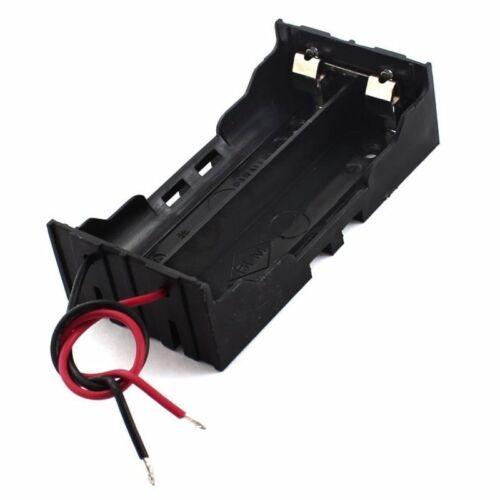 Plastic 2 x 3.7 V 18650 Battery Holder Case Black L7M1