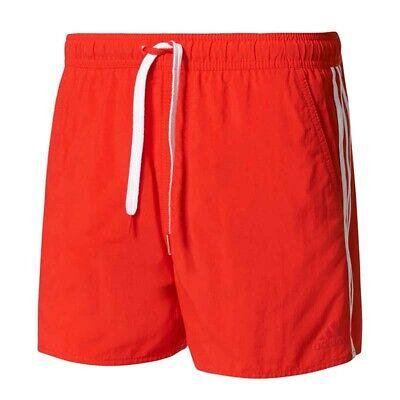 adidas 3 Streifen Badeshorts Herren Schwimmhose Badehose Short BJ8814 NEU S rot