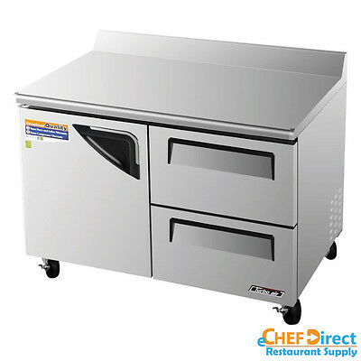 Turbo Air Twf-48sd-d2-n Super Deluxe 48 2 Drawer And 1 Door Worktop Freezer