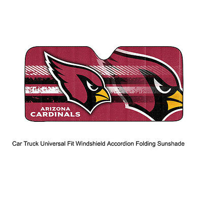 Nfl Arizona Cardinals (NFL Arizona Cardinals Car Truck Front Windshield Accordion SunShade Large)