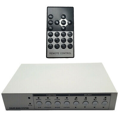 HD Multiplexer, Analog AHD TVI HDCVI Video Quad Screen -