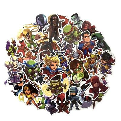 Home Decor Sales Rep Jobs 50 Pcs Chibi DC Marvel Super Heroes Sticker Decals For Skateboard Luggage Laptop