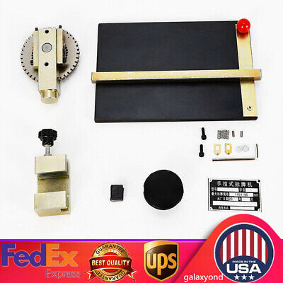 Manual Stamping Embossing Machine Metal Plate Deboss Embosser Dog Tag Printer