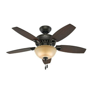 Hunter Holden 44 in. Indoor New Bronze Ceiling Fan