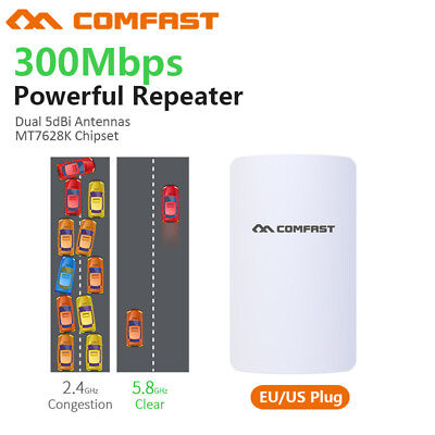 Outdoor AP CPE 300Mbps 5GHz Wireless Access Point WiFi Repeater E120A-V3 US