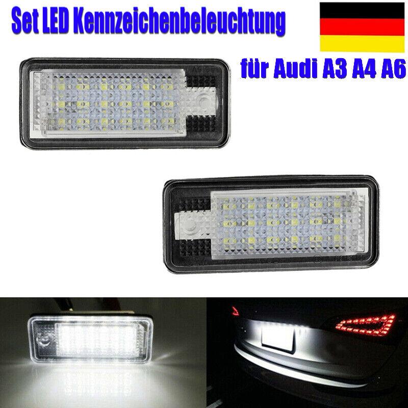 Höchste Qualität ! 2x LED SMD KENNZEICHENLEUCHTE FÜR AUDI A1 A4 A5 A6 A7 Q5 TT
