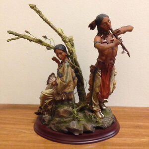 Native Statues - Lot of 4 (one Cowboy and 3 Native Indians)