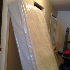 Quilted Euro/Pillow top twin Mattress with memory foam