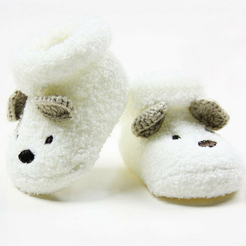 Winter Baby Socks for Newborn Infant Toddler Boy Girl Cute bear Crib Warm Shoes