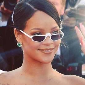 White Sunglasses seen on Rihanna