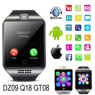 GT08 Bluetooth Smart Watch For Android iOS iPhone GSM GPRS SIM Camera Waterproof
