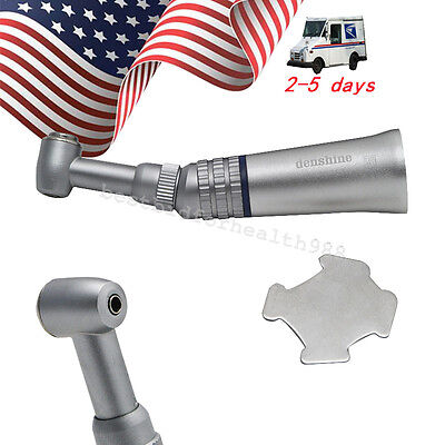 Us Push Button Dental Slow Low Speed Handpiece Contra Angle Fit Nsk E-type Motor