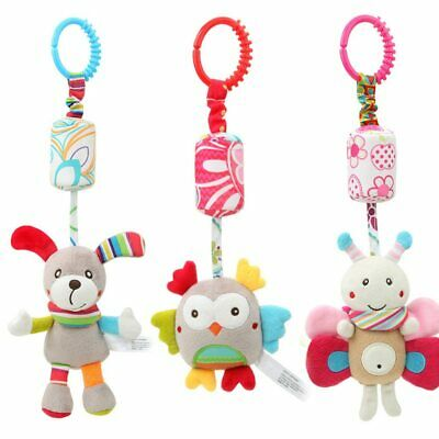 Newborn Plush Stroller Toys Baby Rattles Animal Hanging Bell Educational Toys