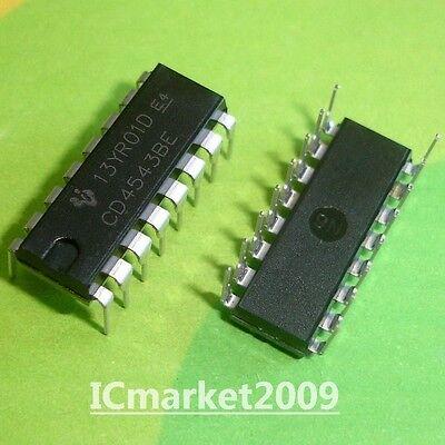 10 Pcs Cd4543be Dip-16 Cd4543 Cmos Bcd-to-seven-segment Latchdecoderdriver