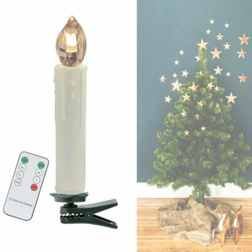 VINGO LED Weihnachtskerzen 20 Set Dimmbar mit Fernbedienung Flammenlose Wasserdichte Lichterkette f/ür Weihnachtsbaum kabellos LED Kerzen,mit Timer-Funktion