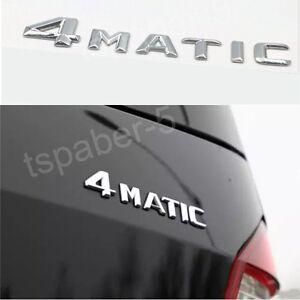 Chrome 4MATIC Emblem Decal Sticker For C E S R G  M ML GL GLK CLASS