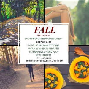 FALL Feels GREAT - 30 DAY Health Plan for NOVEMBER