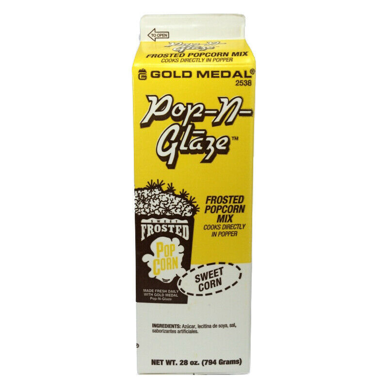 1 Carton Gold Medal 2538 Sweet Corn Pop-N-Glaze Popcorn Flavoring 28 Oz
