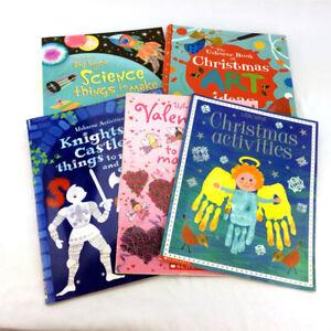 5 Usborne Activity Books Homeschool Series Children Arts & Craft