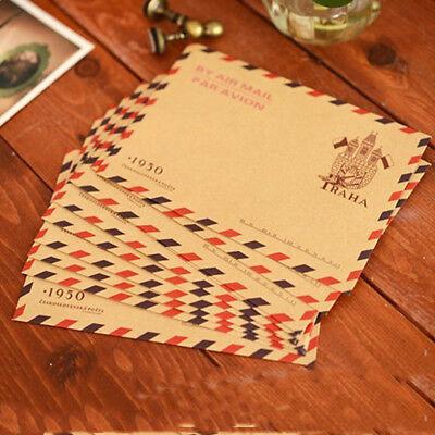 10pcs Vintage Kraft Paper Envelope Letter Invitation Postcards Letter Stationery