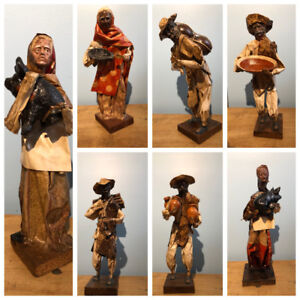 Hand-Made Paper Peasant Sculptures