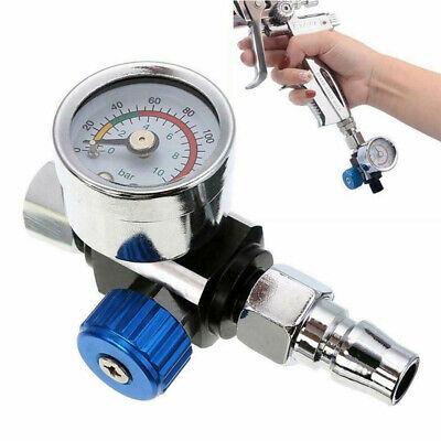 14mini Air Valve Compressor Pressure Regulator Gauge With Nozzle For Spray Gun