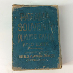 1908 First Edition Panama Canal Souvenir Playing Cards