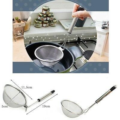 Mesh Slot Filter Spoon Ladle Anchovy Noodle Meat Broth Tea Strainer Sifter Scoop