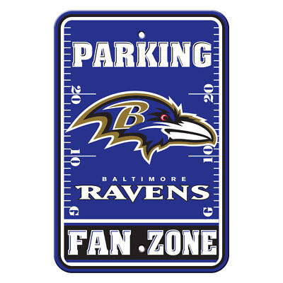 NFL Baltimore Ravens Home Room Office Bar Decor Parking Sign Fan Zone 12
